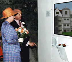HM The Queen viewing the Virtual Tour